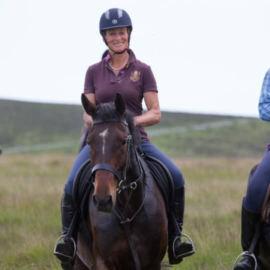Mary King leads ride across Dartmoor