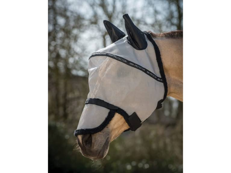 HKM anti-fly with nose protection fly mask