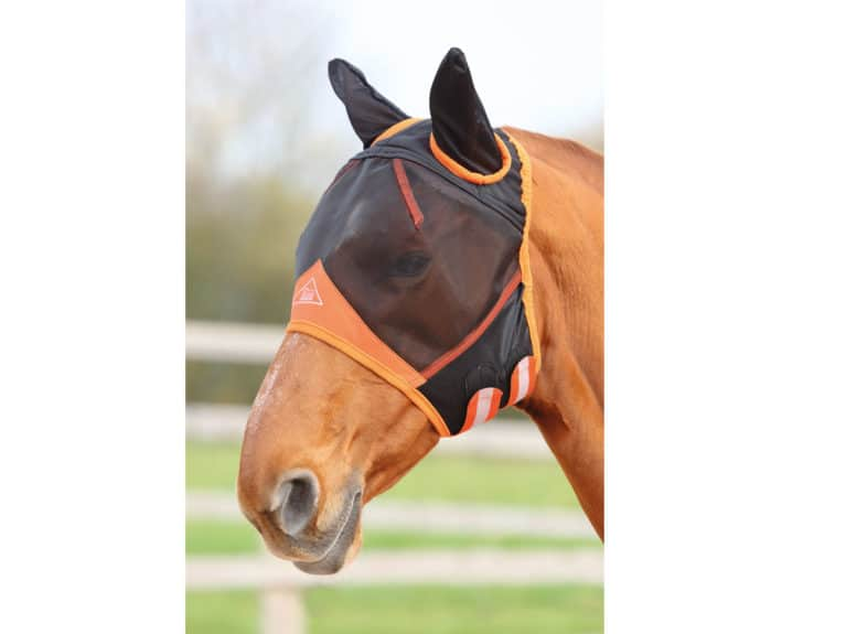 Shires Fine Mesh with Ears fly mask
