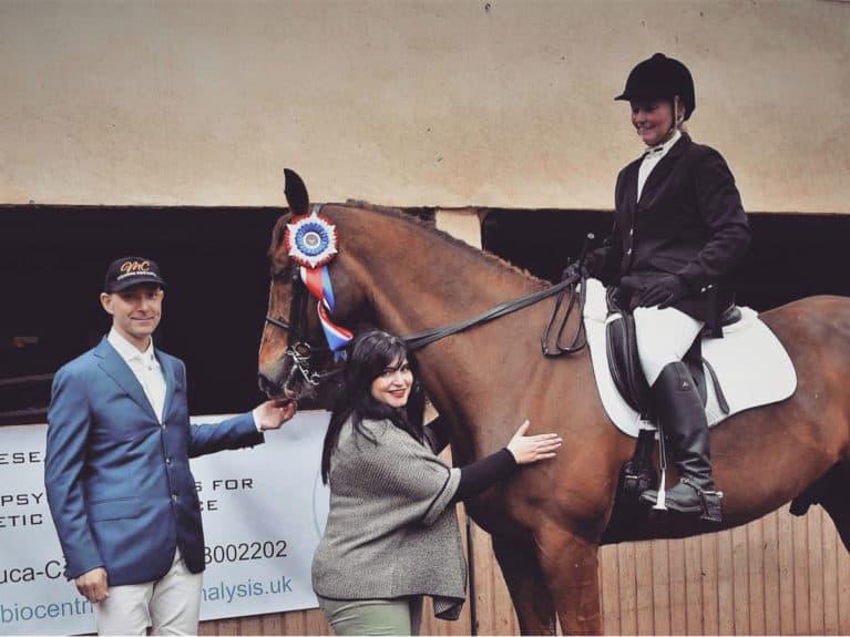 Professor Melania Anna Duca-Canavan with horse and rider