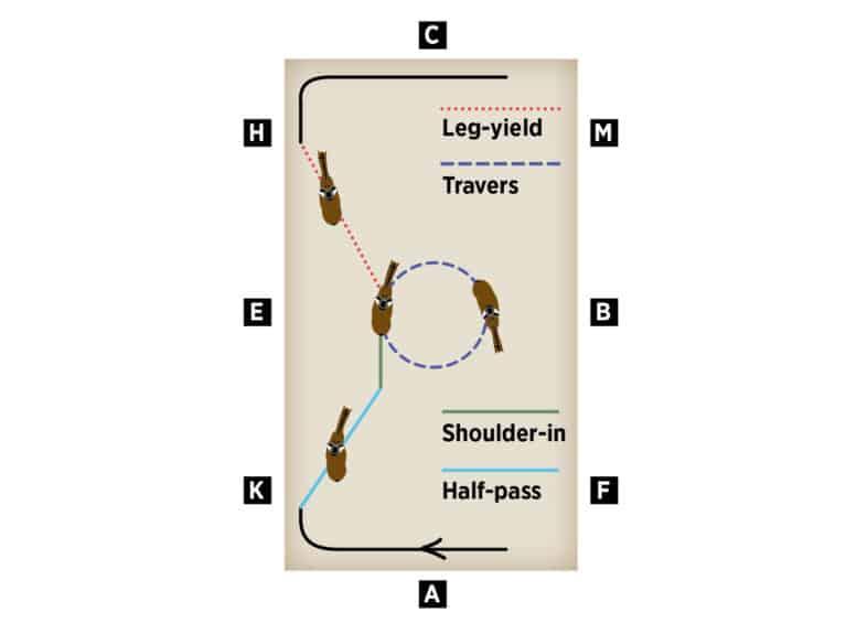 Dan Greenwood Diagram shoulder-in to half-pass
