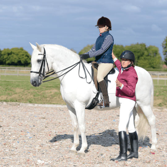Sylvia Loch showing correct rider position