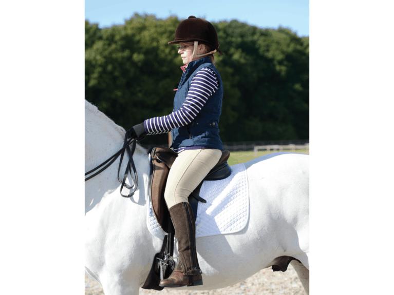 Positioning of rider's leg