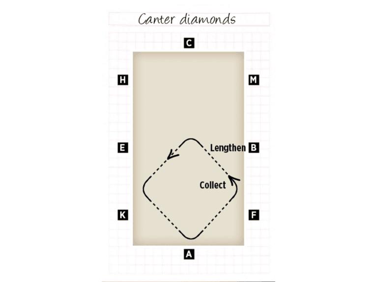 Canter diamond exercise for riding