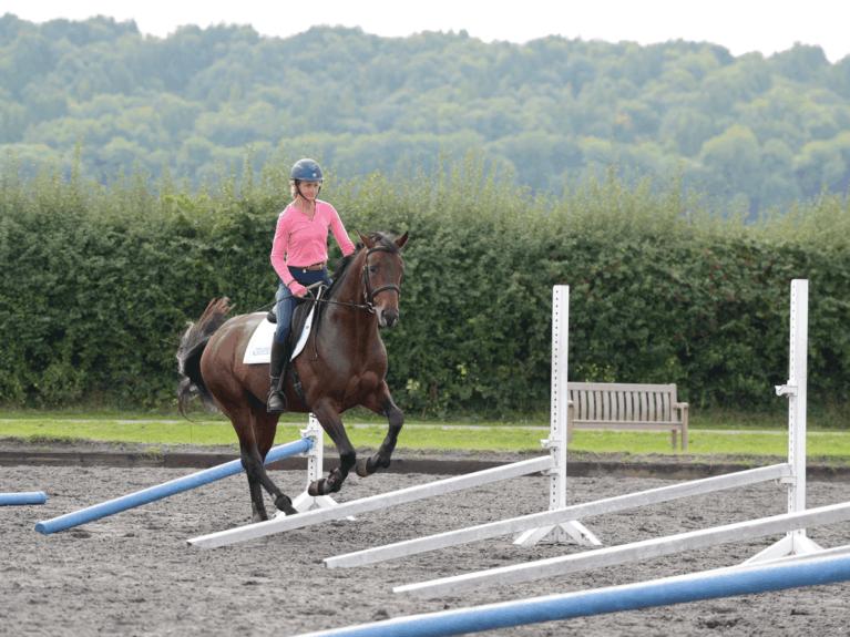 Lucinda Fredericks riding raised canter poles