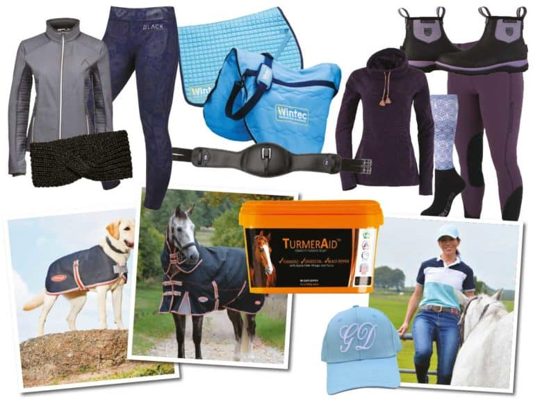 Competition giveaway prizes in January Horse&Rider magazine