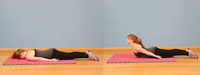 Dorsal raises, exercise for horse riders