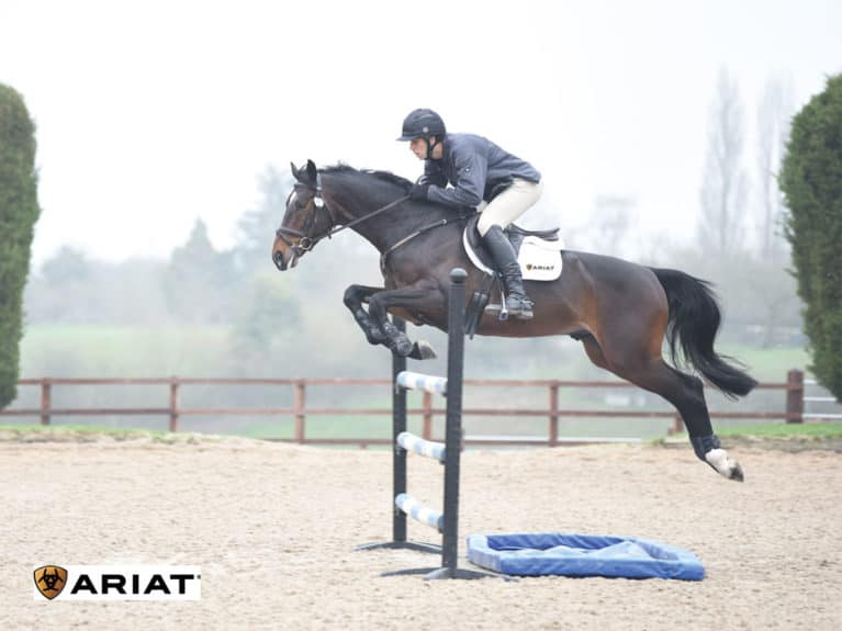 Nick Gauntlett jumping an upright with water tray