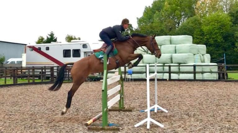 Eventer Hayden Hankey riding