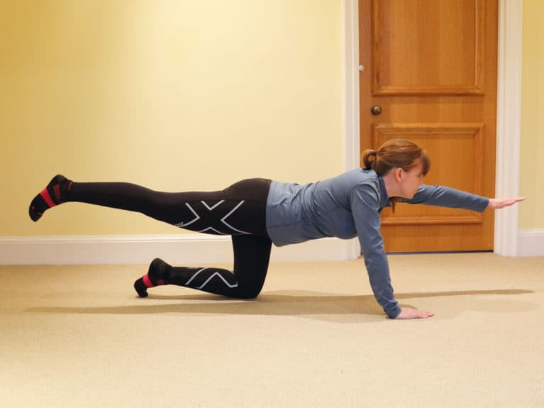 Superman core exercise for riders