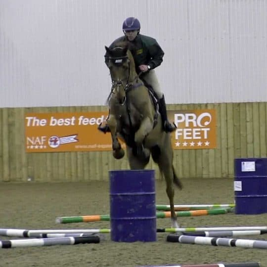 Ben Hobday at eh Horse&Rider demo