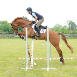 Harry Meade jumping straight