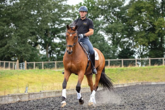 Spencer Wilton riding exercises to help get your horse off the forehand