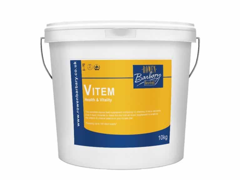 Vitem daily horse supplement from Rowen Barbary