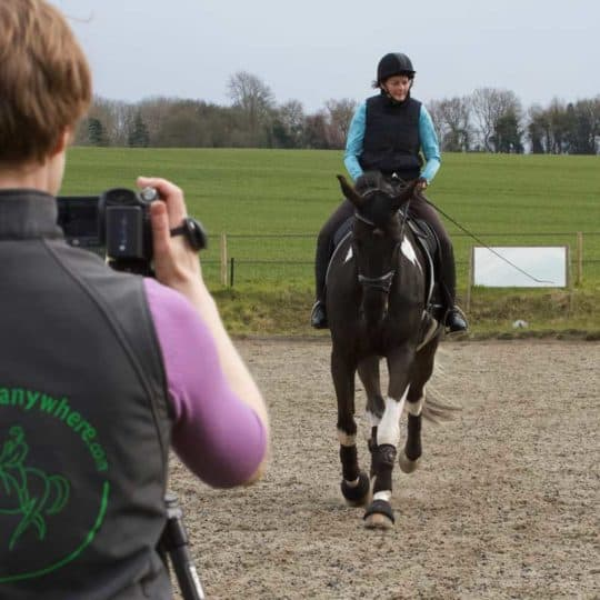 Filming a test for Dressage Anywhere