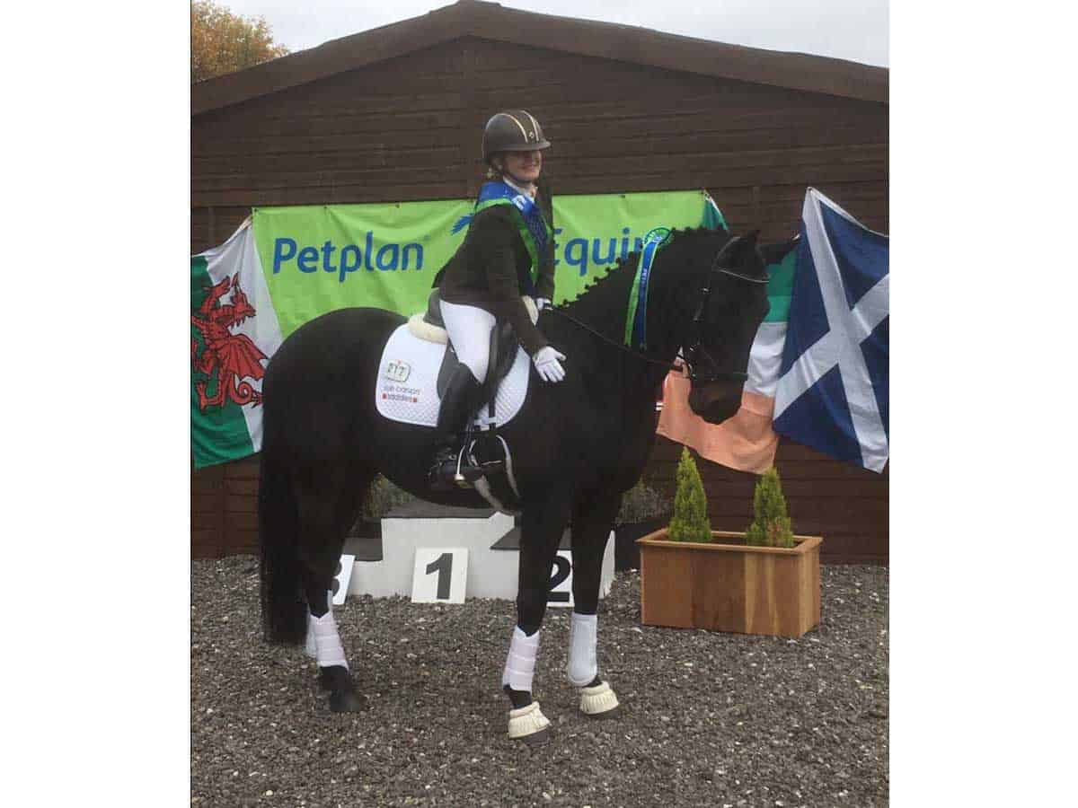 Heather Hopkinson and Brackenspa Houdini (Harry) competed in the Novice Bronze class last year at Aintree Equestrian Centre