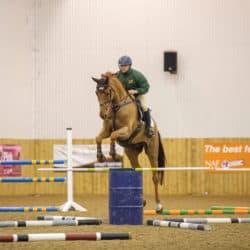 Ben Hobday jumping barrels
