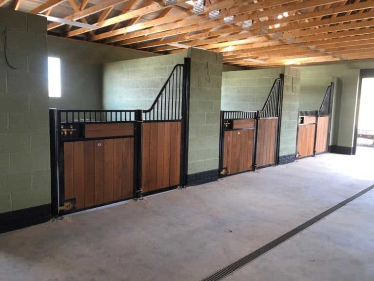 Cheval Liberte stabling, oak fronts