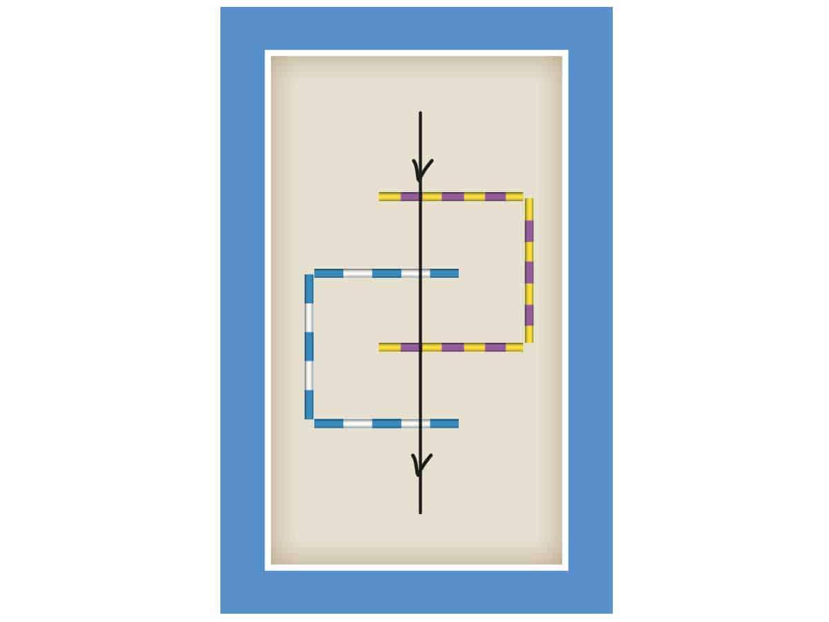 Maze in-hand polework maze set-up diagram
