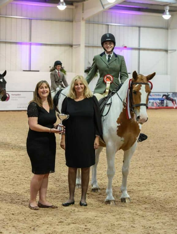 Drunkeen Boy and Eleanor Currington winning the SEIB Search for a Star Riding for the Disabled Championship final