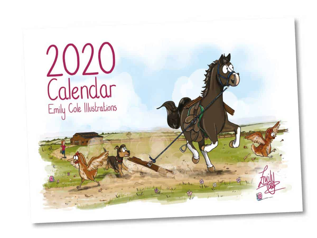 Emily Cole Illustration's 2020 calendar