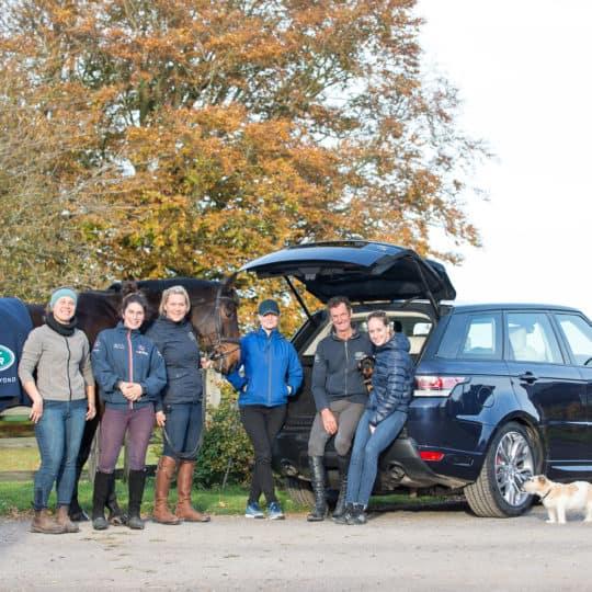 Mark Todd Land Rover team