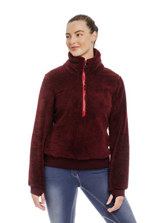 Chiara Cozy 3/4 length zip fleece