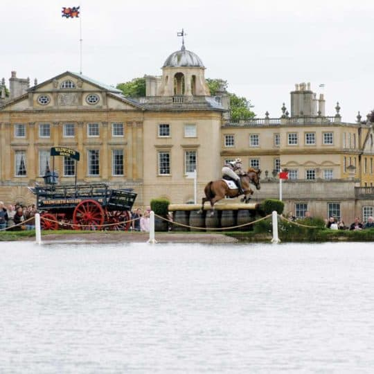 The lake complex at Burghley Horse Trials