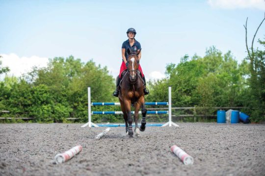 Showjumper Anna Power's jumping exercise