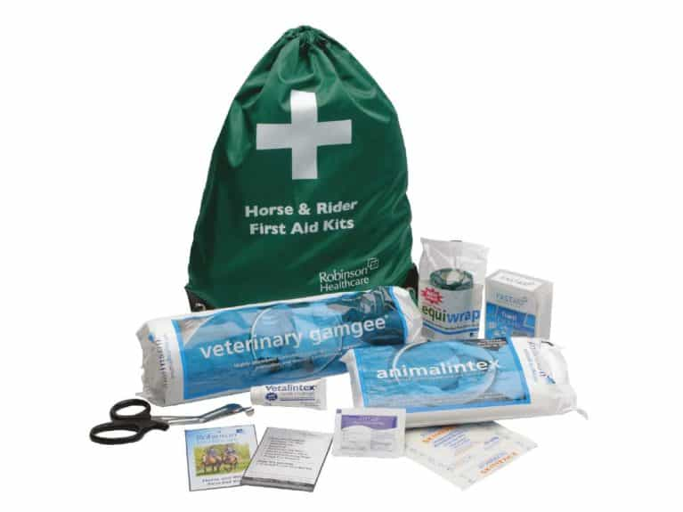 Robinson Animal Healthcare's horse and rider first aid kit
