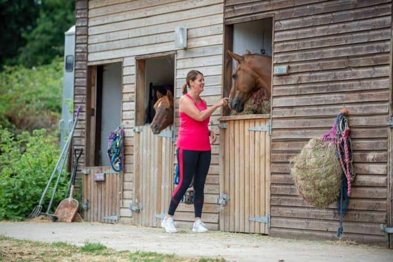 Rider fitness, work and horses