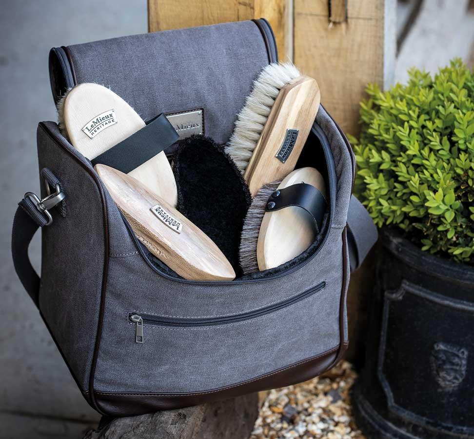 Lemieux Heritage brush set and canvas bag