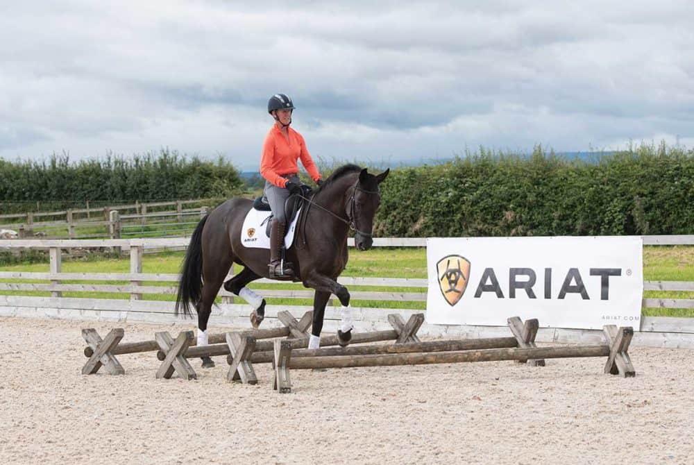 Nicola Wilson riding exercises