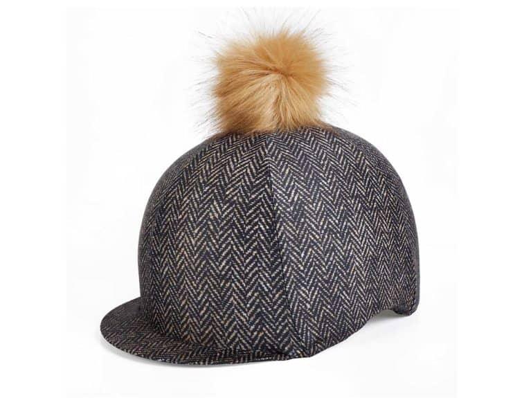 Elico brown tweed hat cover