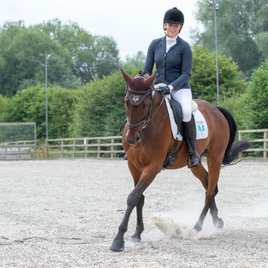Competition day, dressage