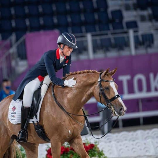 Charlotte Dujardin and Gio at the Tokyo Olympics