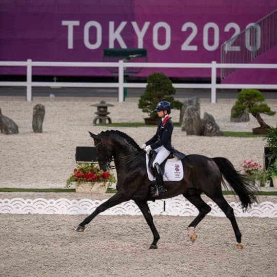 Lottie Fry and Everdale at Tokyo 2020 olympics